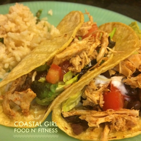 Slow Cooker Chicken Taco Bar