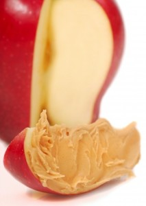Peanut butter and apples a satisfying healthy snacksnack