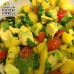 Mango avocado salsa has just a few simple ingredients and pairs nicely with fish tacos!