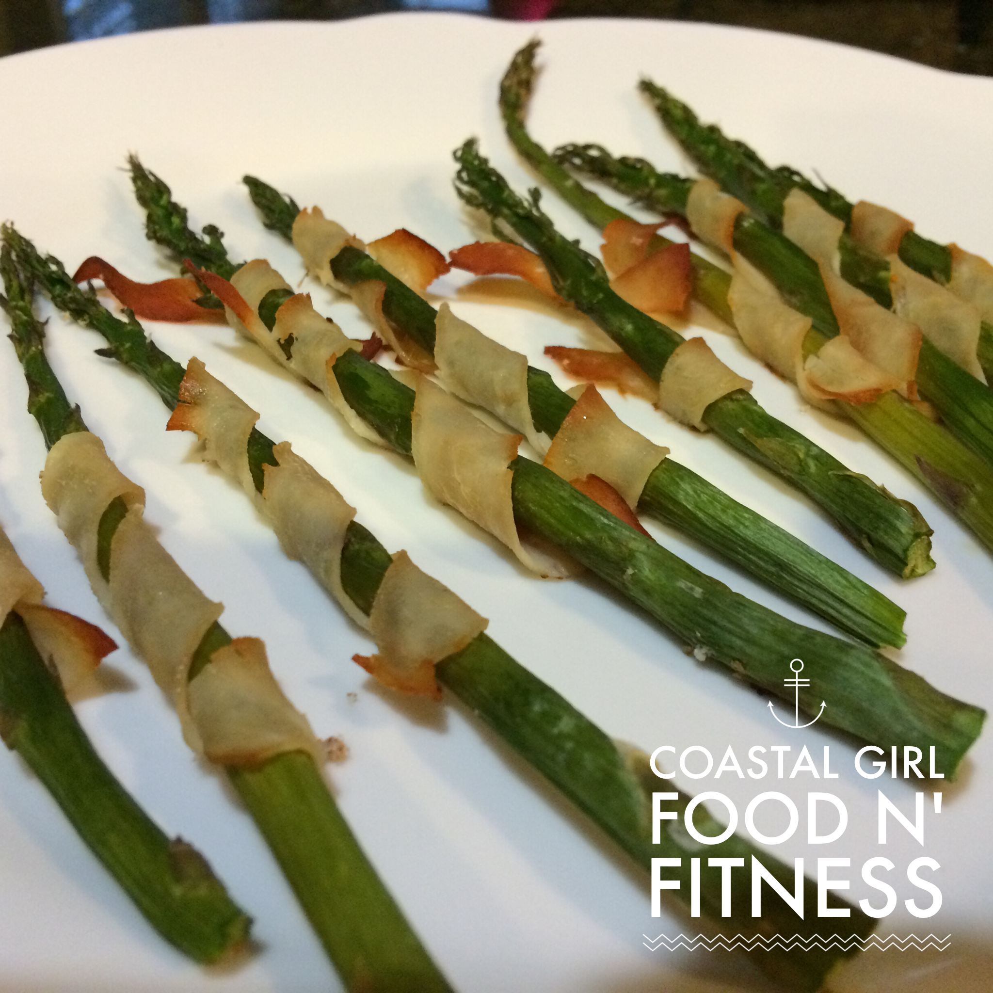 Turkey Wrapped Asparagus Spears: Swapping out the bacon for thin strips of smoked turkey breasts cleaned this appetizer up nicely without losing that smoky flavor