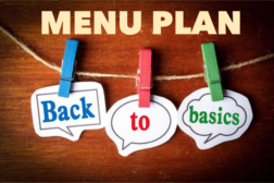 Back to Basics Menu Plan