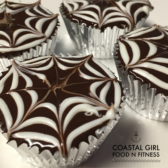 You can't be anything but happy when you have a cupcake! Especially these rich chocolaty spiderweb cakes!