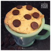 Chocolate Chip Mug Cake: A cake that serves 1! No leftovers to pick at day after day!